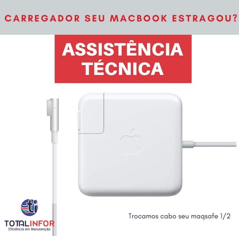 Carregador Apple MagSafe de 45W para MacBook Air 2008 a 2011